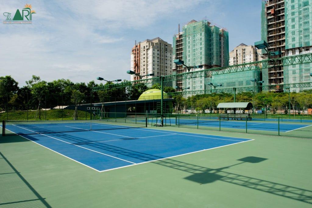 Cụm 4 sân tennis đã được đưa vào sử dụng