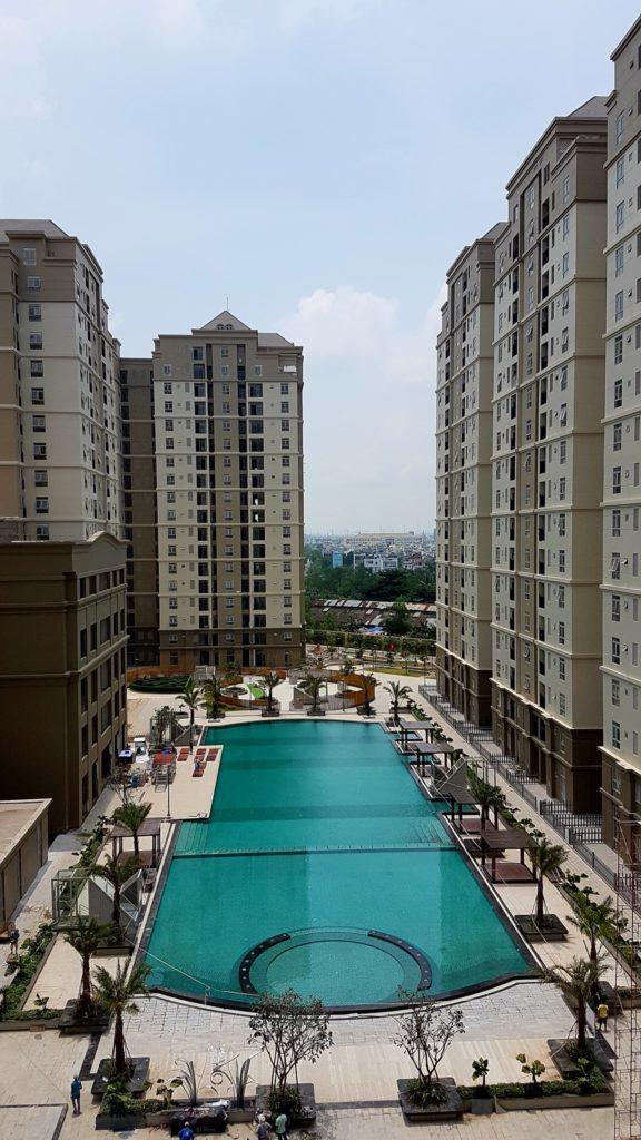 Toàn cảnh Hồ bơi Ánh Viên nằm trong lòng khu căn hộ The Art