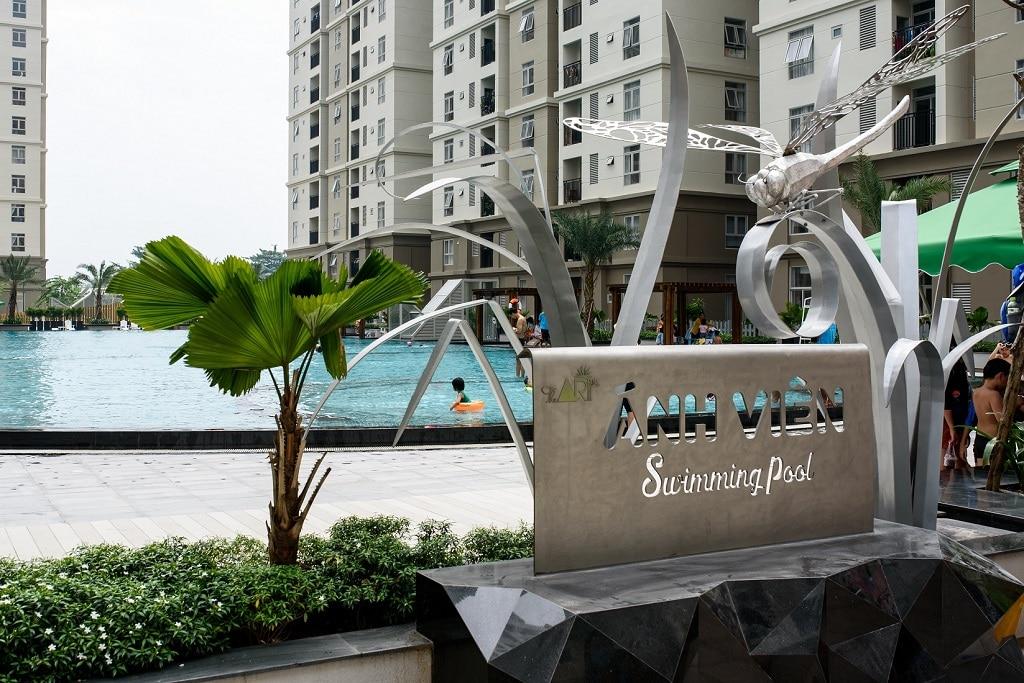 Hồ bơi căn hộ The Art Gia Hòa